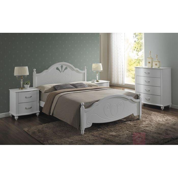łóżko Drewniane Malta Signal Białe