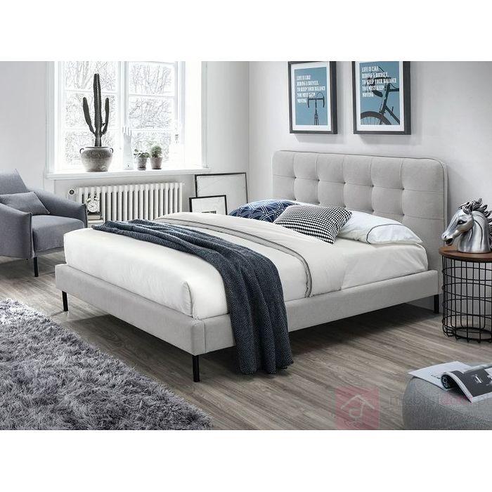 łóżko Tapicerowane Sally Signal Jasny Szary