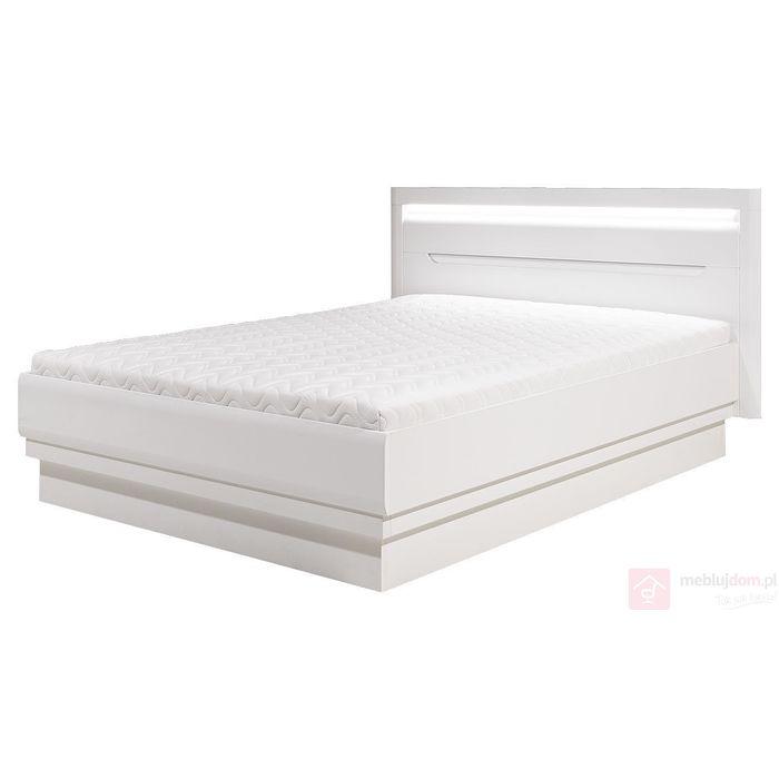 łóżko Irma Im 16 Z Pojemnikiem Na Pościel Bogfran Biały Biały Połysk 2 Kolory Wstawek 3 Rozmiary