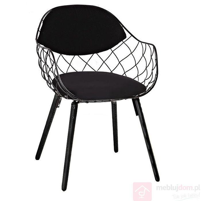 Krzesło Demon Czarne Metalowe