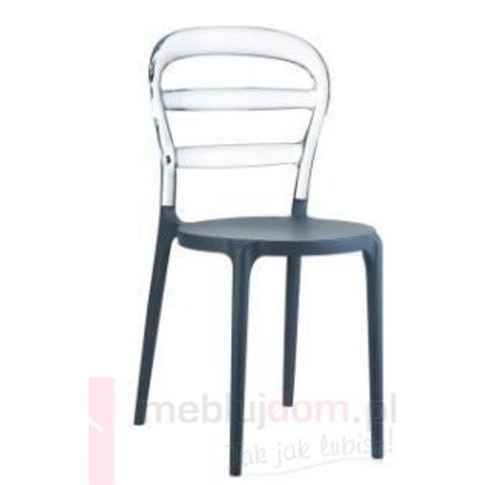 Krzesło Miss Bibi grey/clear transparent