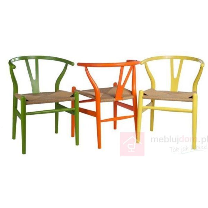 Krzesło Wicker Color inspirowane Wishbone