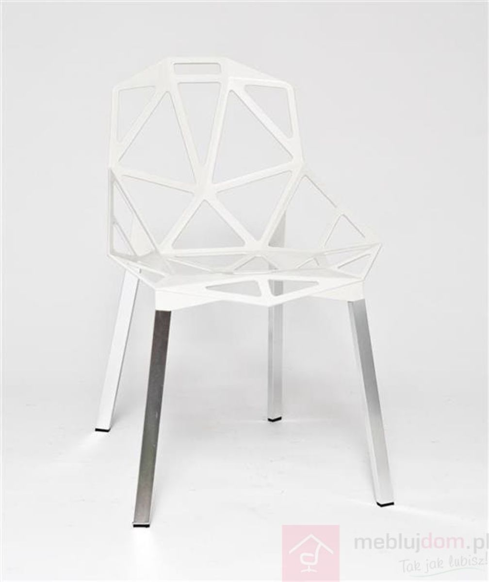 Krzesło Gap inspirowane One Chair białe przodem