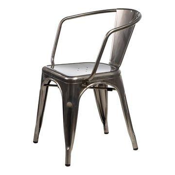 Krzesło Paris Arms inspirowane Tolix