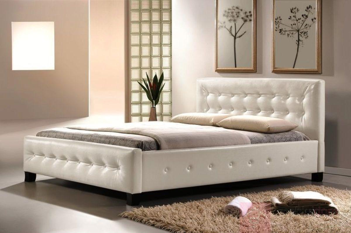 Łóżko BARCELONA Signal Biały, 160x200 cm