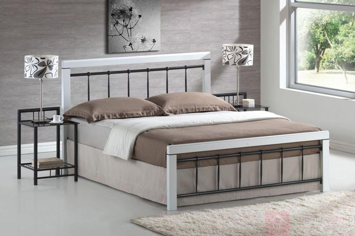 Łóżko BERLIN Signal Czarno-biały, 160x200 cm