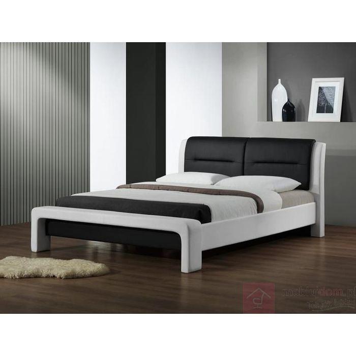 Łóżko CASSANDRA Halmar Czarno-biały, 120x200 cm