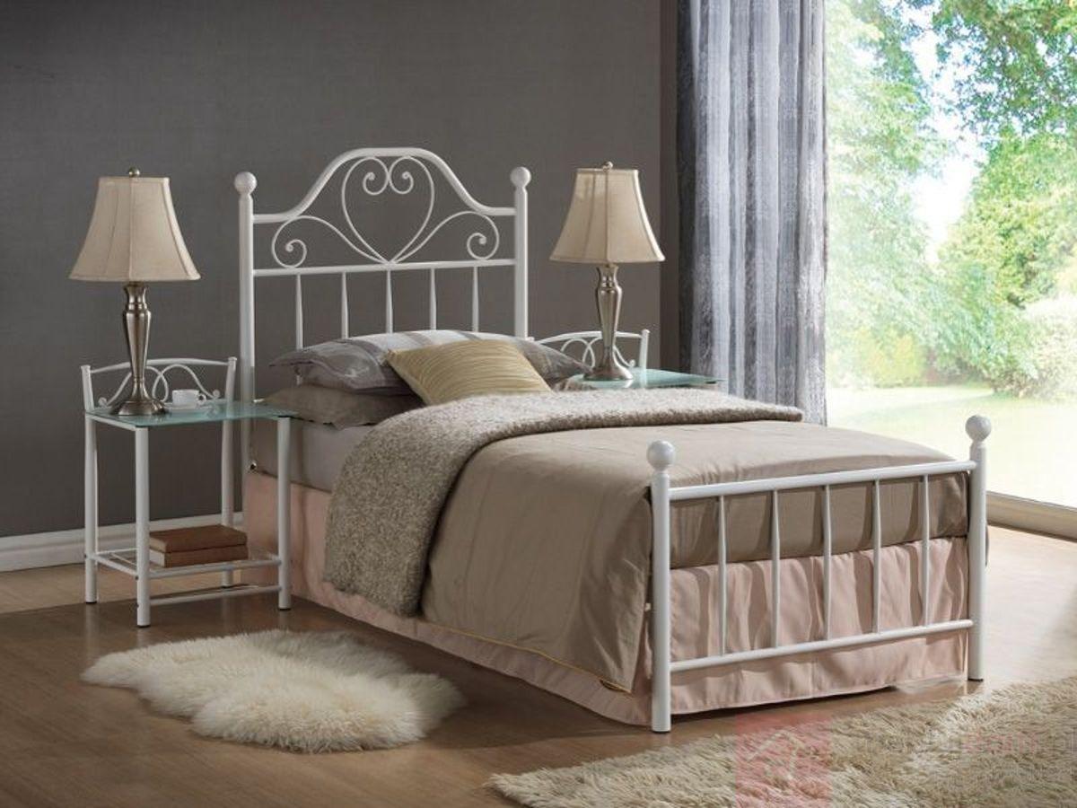 Łóżko LIMA Signal Biały, 90x200 cm
