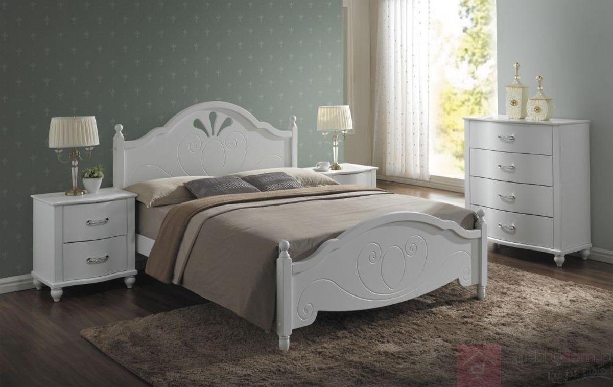 Łóżko MALTA Signal Biały, 160x200 cm