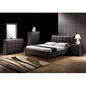 Łóżko SAMARA Halmar Czarny, 160x200 cm