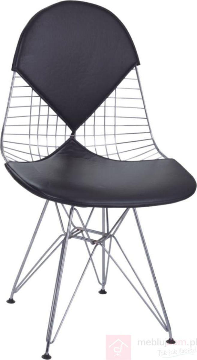 Krzesło NET DOUBLE czarne poduszki