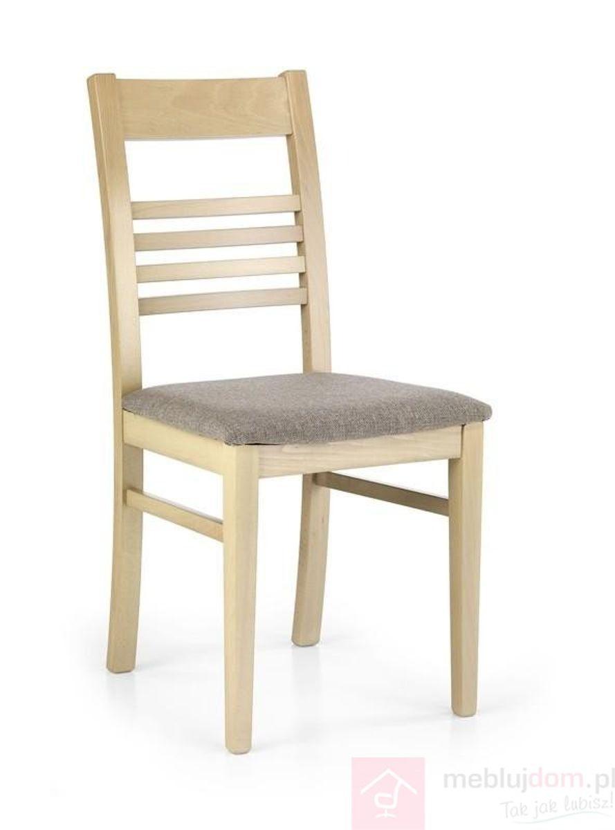 Krzesło JULIUSZ Halmar Dąb sonoma, Tapicerowany