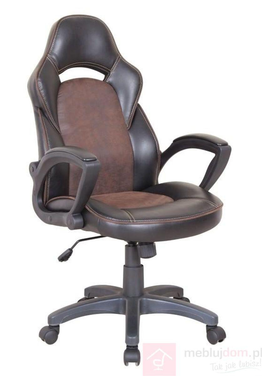 Fotel obrotowy LIZARD Halmar Ekoskóra, Czarno-brązowy