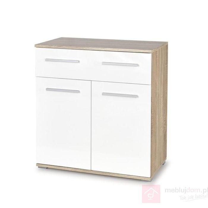 Komoda LIMA KM-1 Halmar dąb sonoma + biały