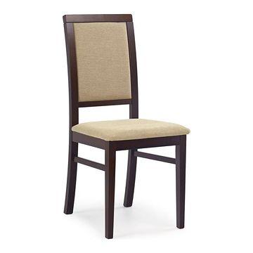 Krzesło SYLWEK 1 Halmar Orzech ciemny, Tkanina Torent Beige