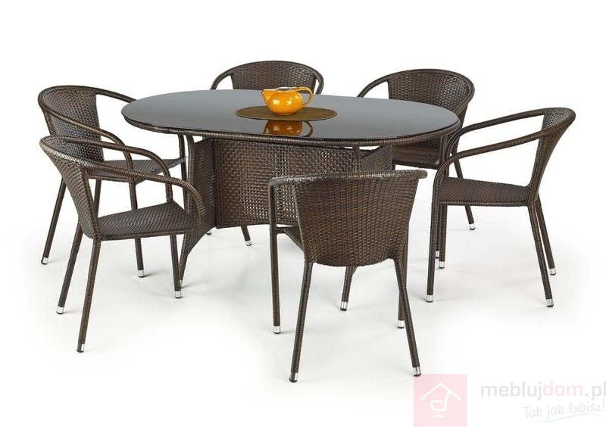Stół MASTER Halmar ciemno brązowy