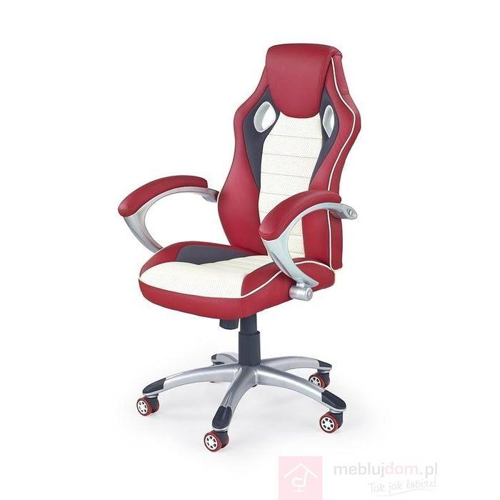 Fotel obrotowy MALIBU Halmar czerwono - kremowy
