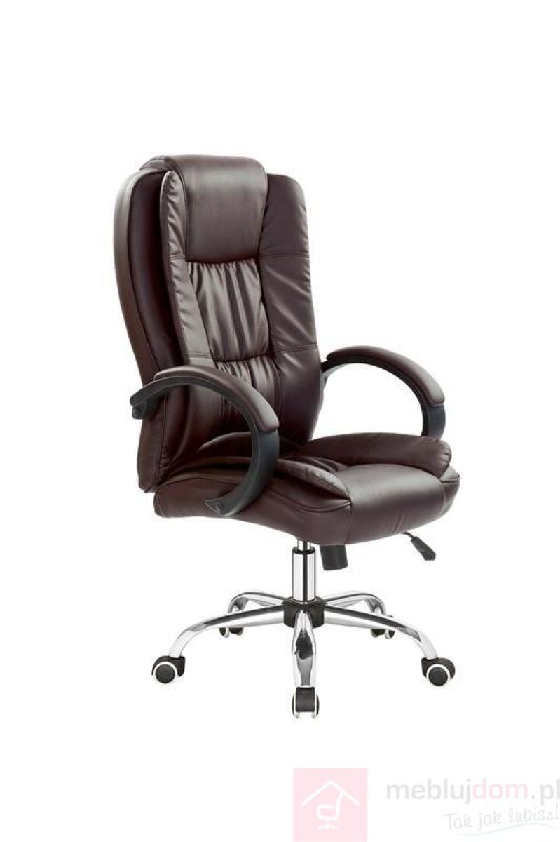 Fotel obrotowy RELAX Halmar ciemno brązowy