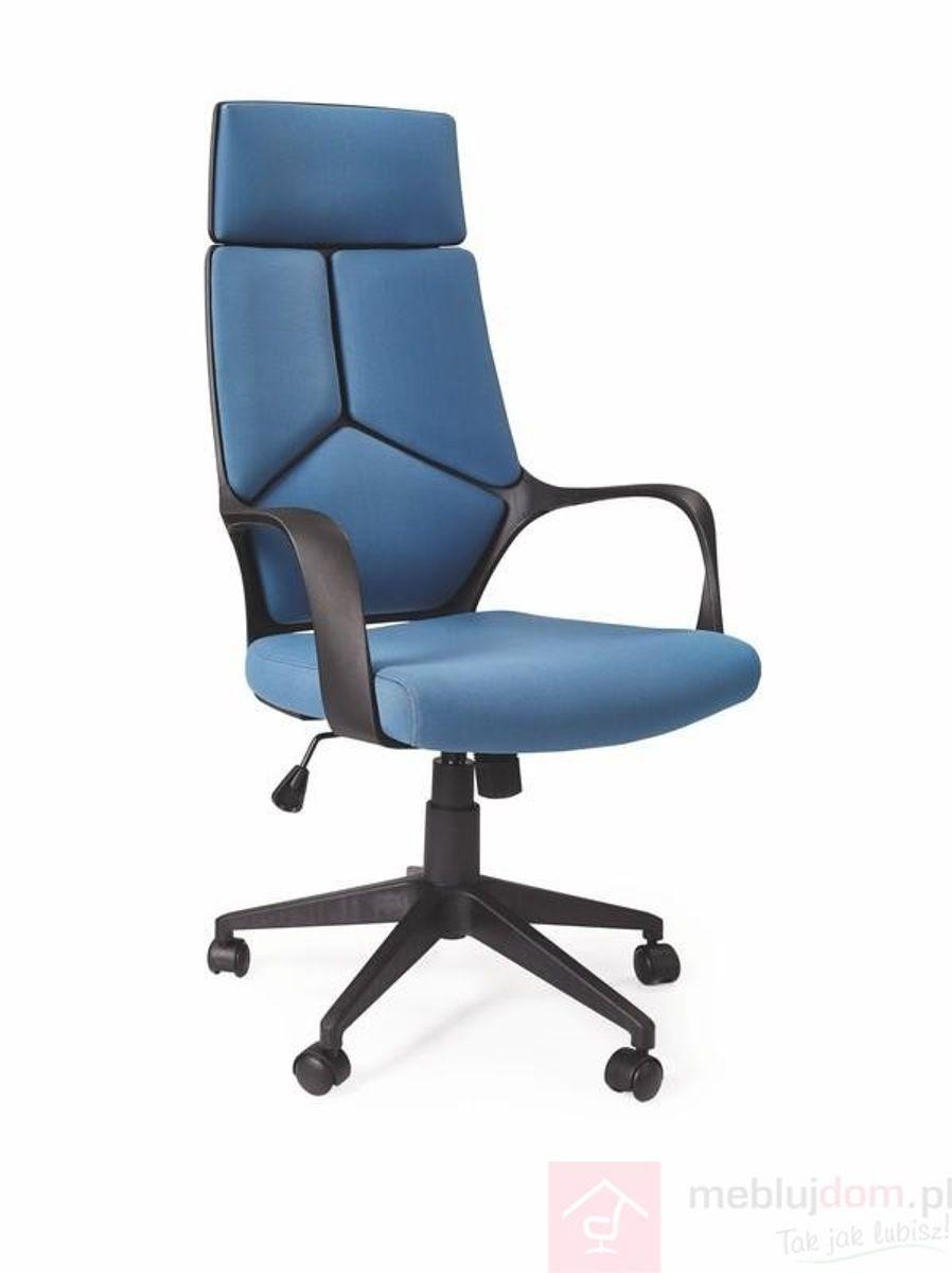 Fotel obrotowy VOYAGER Halmar niebieski + czarny