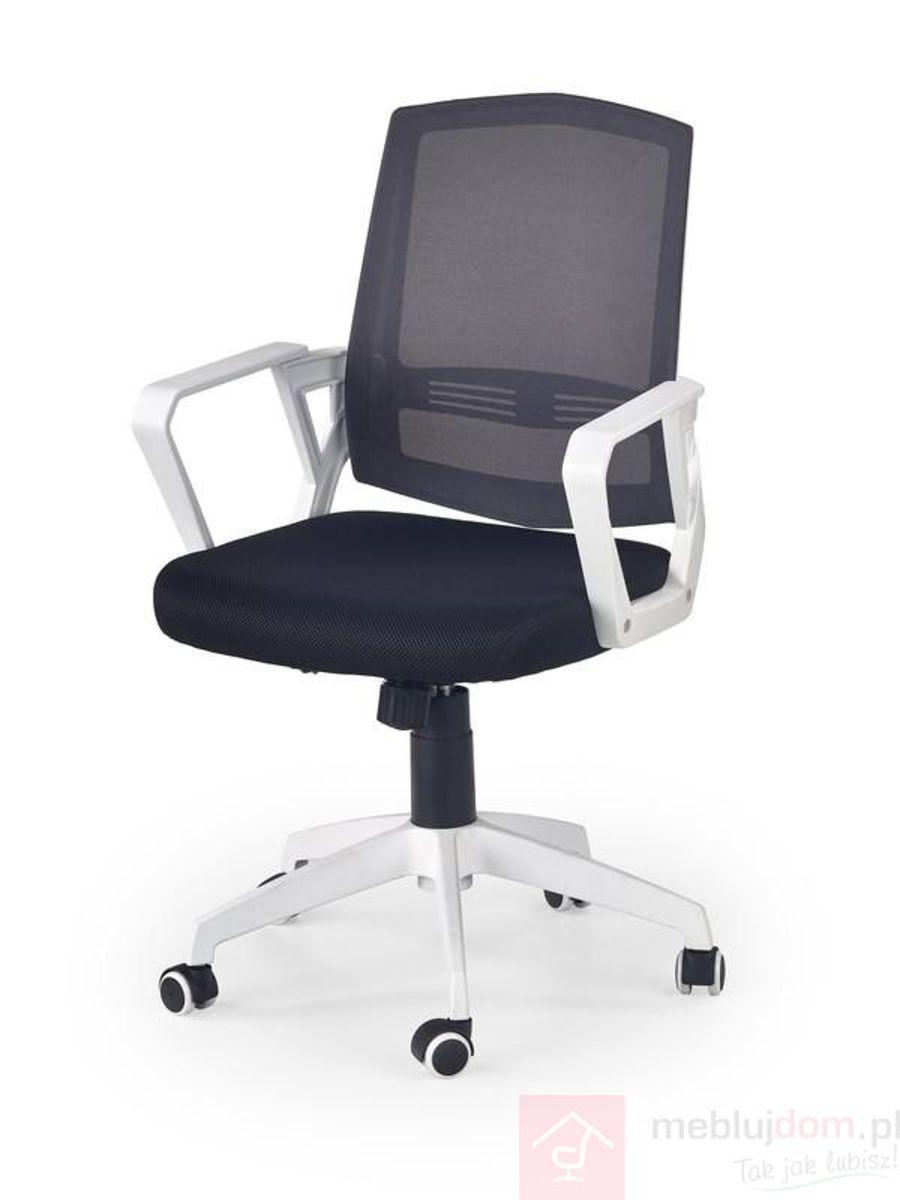 Fotel obrotowy ASCOT Halmar czarno-biało-popielaty