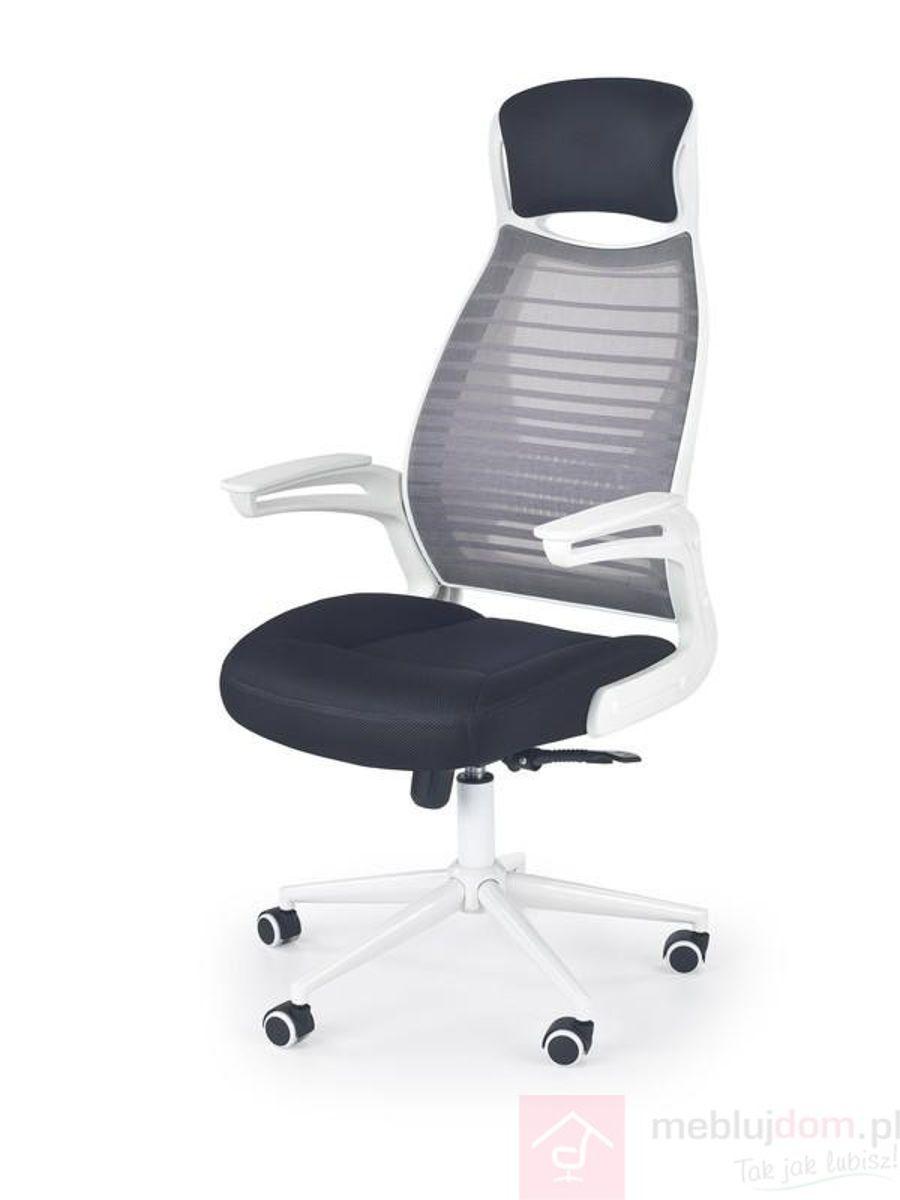 Fotel obrotowy FRANKLIN Halmar biało-czarno-popielaty