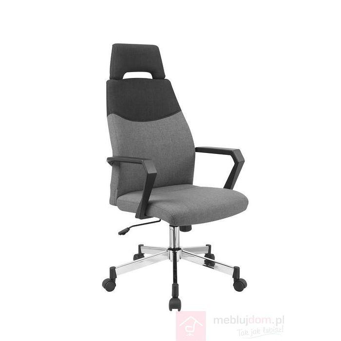 Fotel obrotowy OLAF Halmar czarno-popielaty