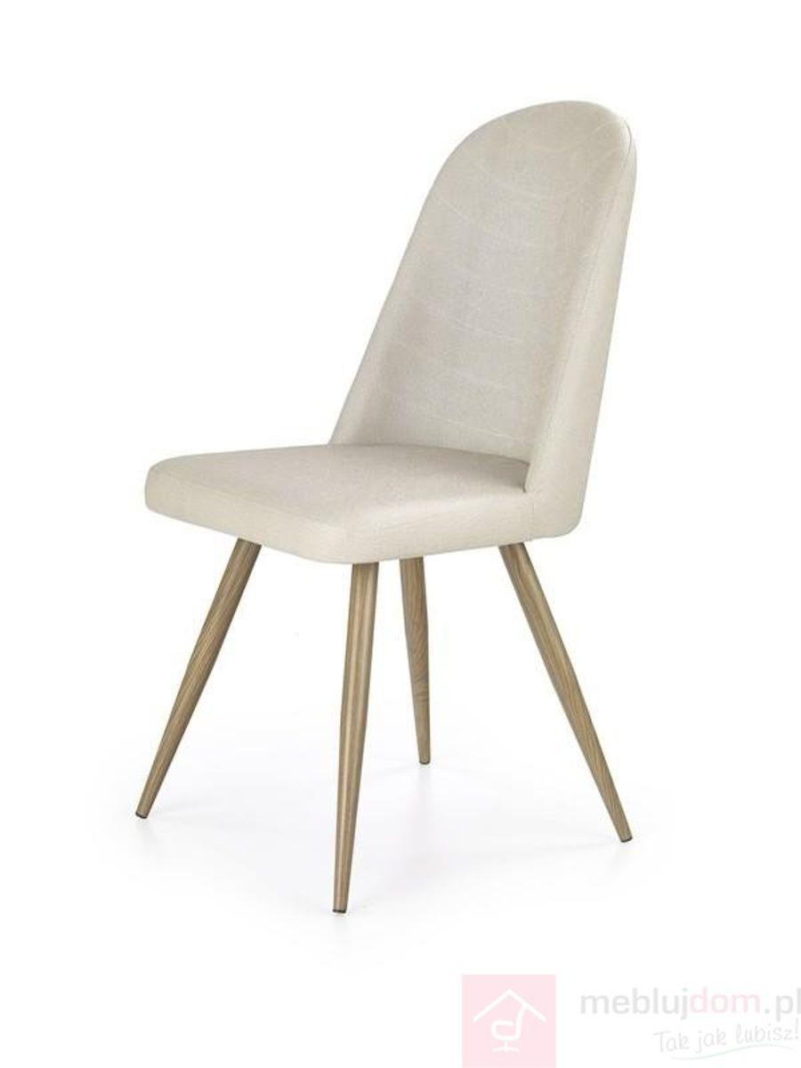 Krzesło K-214 Halmar ciemny krem + dąb miodowy