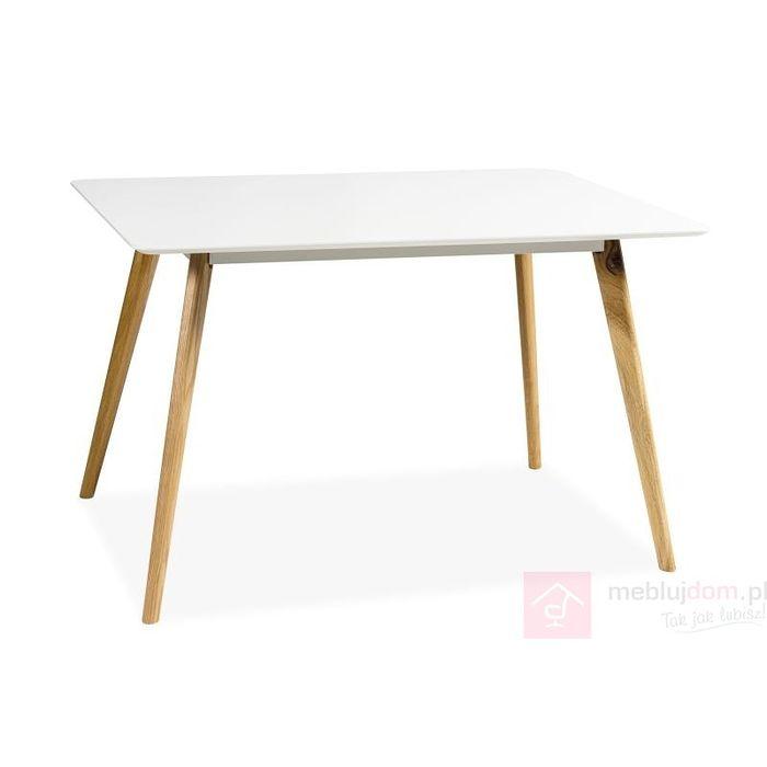 Stół MILAN Signal 80x120 cm, Dąb naturalny + biały