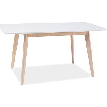 Stół COMBO II Signal 80x120-160 cm, Dąb bielony + biały
