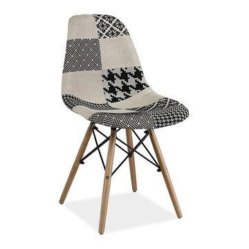Krzesło SIMON B Signal Czarno-biały
