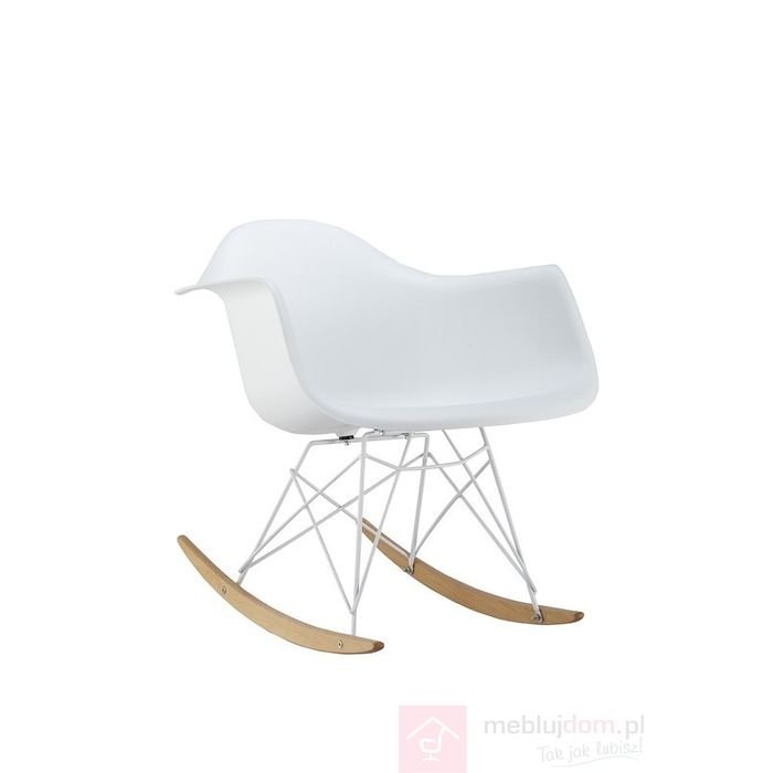 Krzesło bujane MONDI II Signal Biały