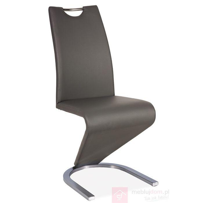 Krzesło H-090 stal szczotkowana Signal Szary