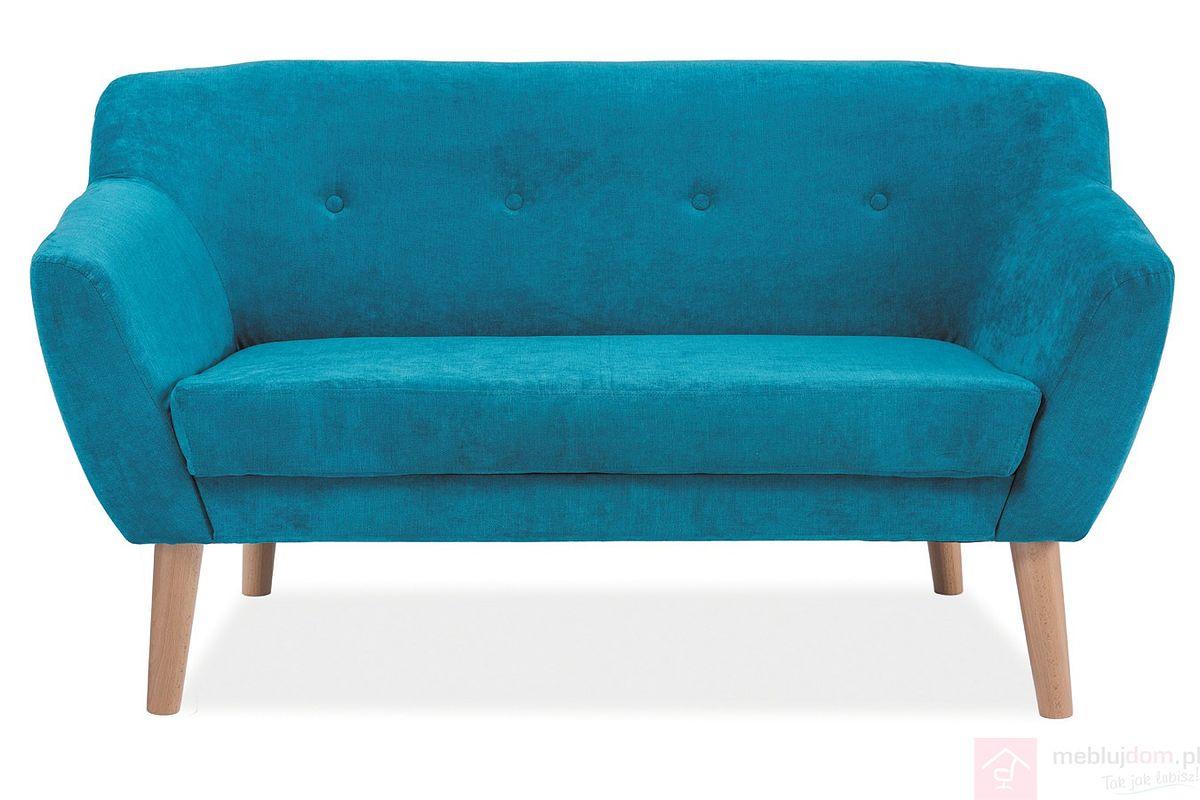 Sofa BERGEN II Signal tkanina Turkus tapicerowany
