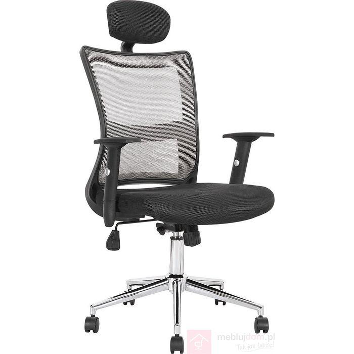 Fotel obrotowy NEON Halmar Czarno-szary