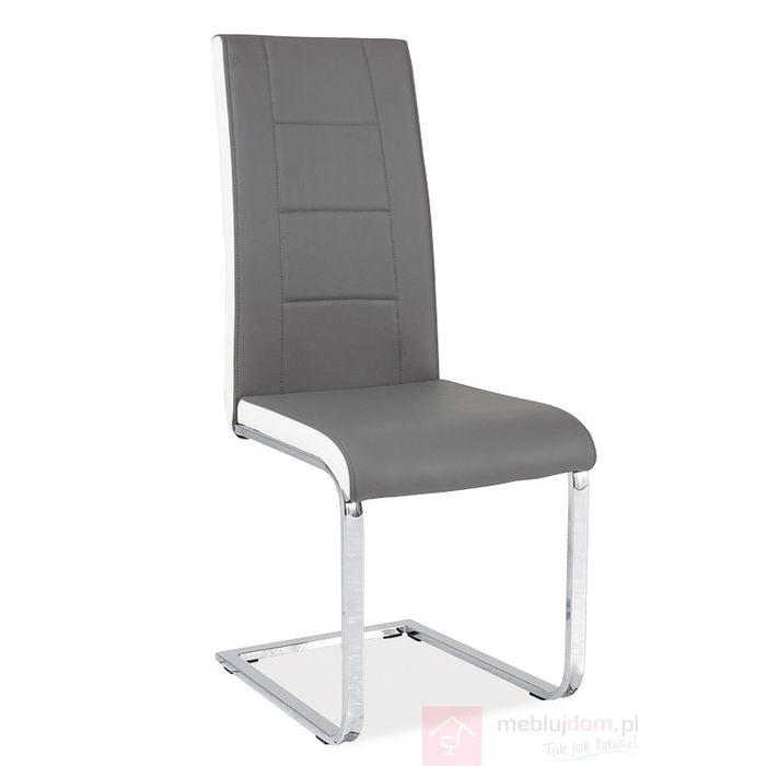 Krzesło H-629 Signal Szaro-biały