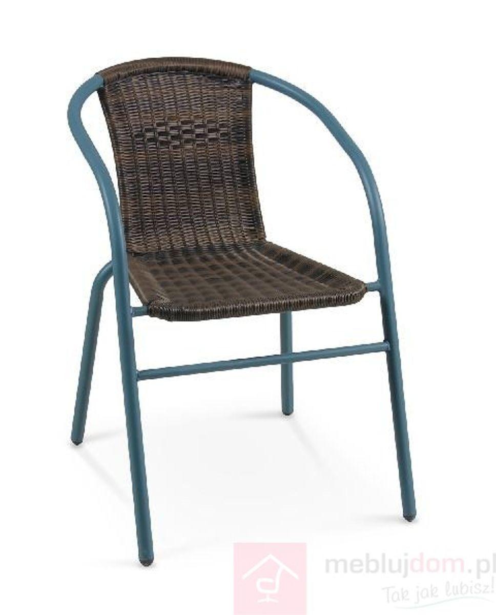 Krzesło ogrodowe GRAND 2 Halmar Brąz ciemny