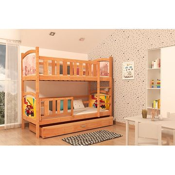 Łóżko piętrowe TAMITU podwójne
