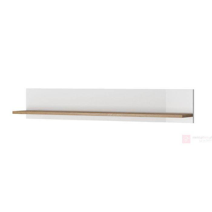 Półka wisząca LUMI LI 02 (Dąb beaufort + biały połysk)