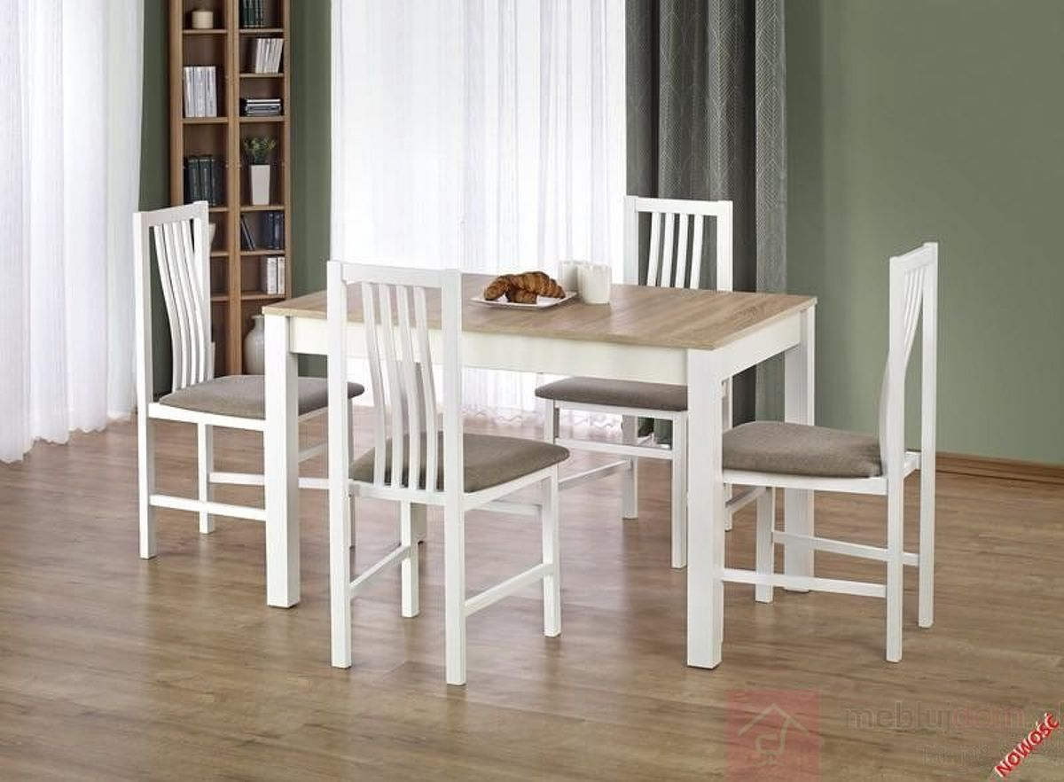 Stół KSAWERY Halmar dąb sonoma + biały