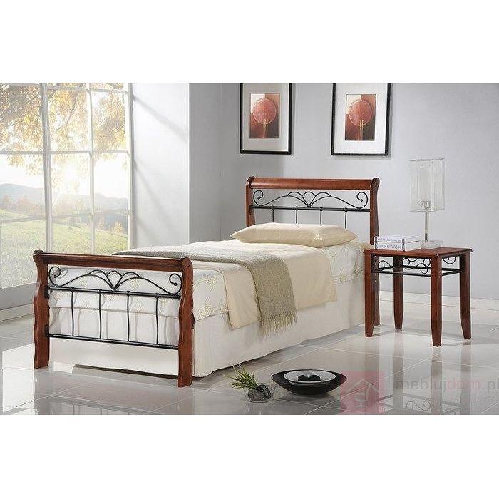 Łóżko VERONICA Halmar Czereśnia antyczna + czarny, 90x200 cm