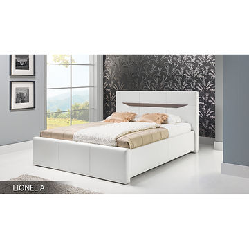 Łóżko tapicerowane LIONEL A (Eko skay 017 + Cayenne 6)