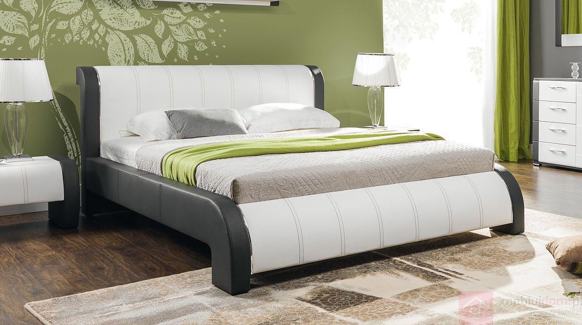 Łóżko tapicerowane NAOMI (Eko skay Tiguan 106 + Eko skay 017)
