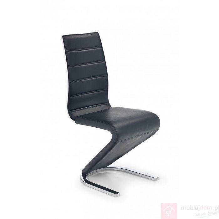 Krzesło K-194 Halmar Czarno-biały