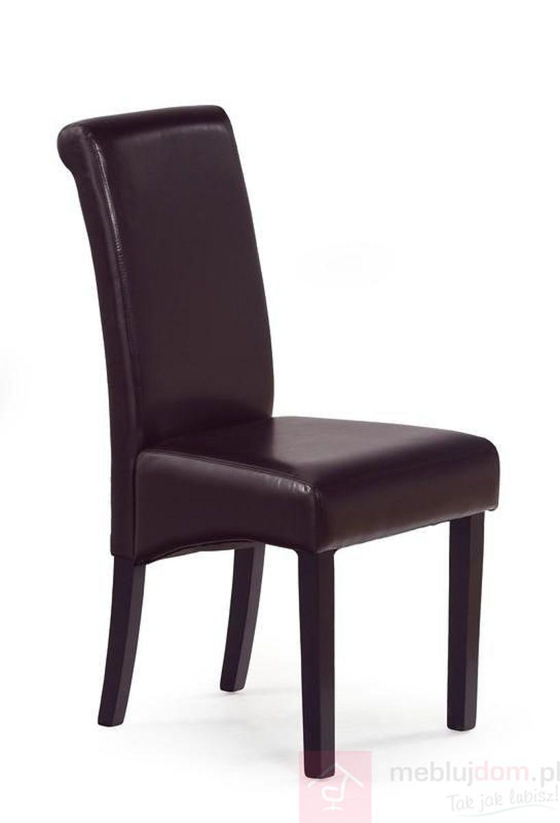 Krzesło NERO Halmar Wenge + ciemny brąz