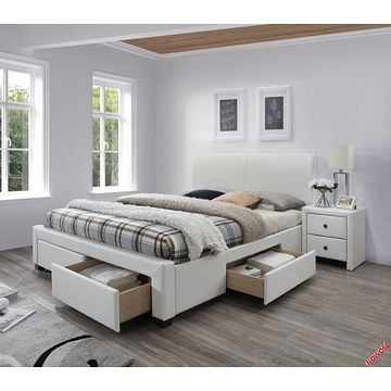 Łóżko MODENA 2 Halmar białe
