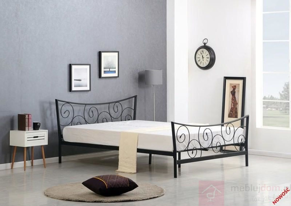 Łóżko RAMONA Halmar czarne
