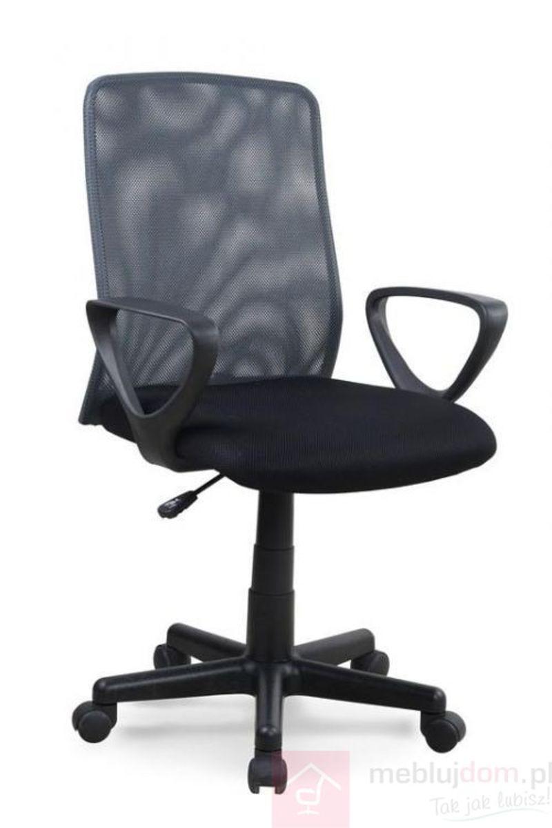 Fotel obrotowy ALEX Halmar Czarno-szary