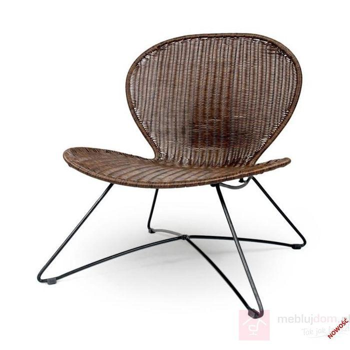 Fotel TROY Halmar brązowy