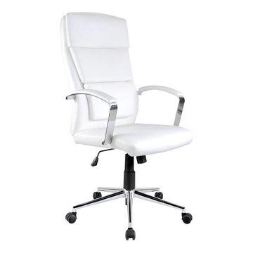 Fotel obrotowy AURELIUS Halmar Biały, Ekoskóra