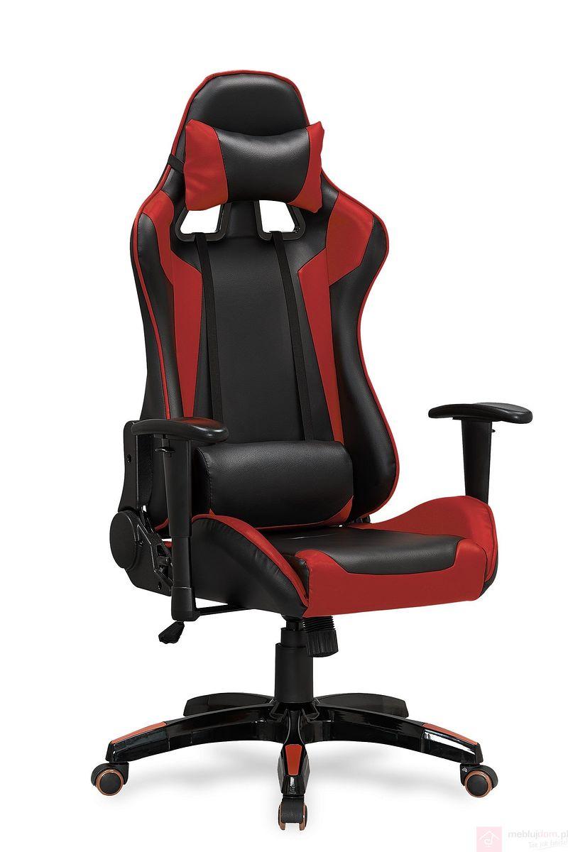 Fotel DEFENDER Halmar czarno-czerwony